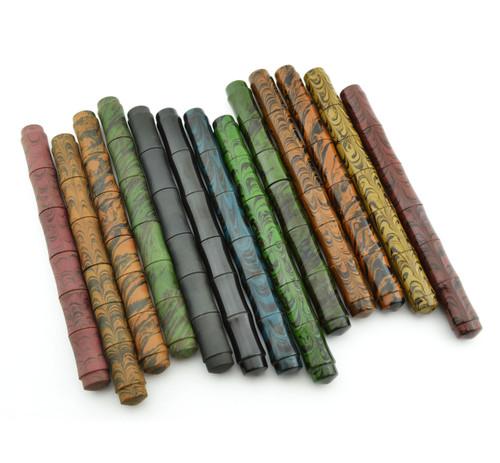 Ranga Ebonite Slim Bamboo Fountain Pen - German Nibs, Cartridge/Converter