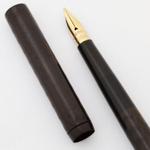 Waterman 12-1/2 Fountain Pen (Canada, 1920s) - BCHR, Eyedropper, Full Flex Ideal Canada Fine Nib (Excellent, Restored)