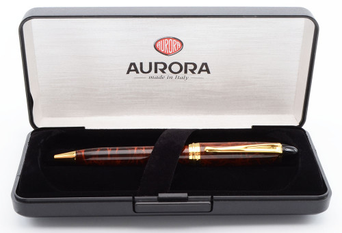 Aurora Ipsilon Ballpoint Pen - Turtle Lacquer w/GP Trim (Near Mint in Box, Works Well)