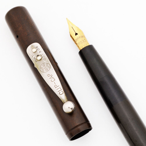 Waterman 12 SF Sleeve Filler Fountain Pen (Early 1900s) - BHR, Flexible New York Nib (Excellent, Restored)