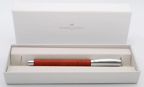 Faber-Castell Ambition Fountain Pen - Pear Wood, Medium Steel Nib (Near Mint in Box, Works Well)