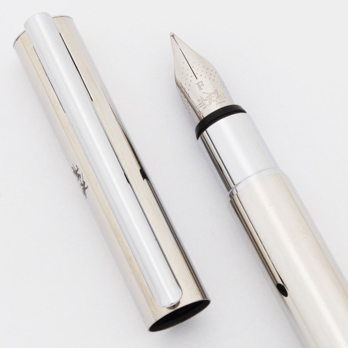 Faber-Castell Neo Slim Fountain Pen - Stainless Steel, C/C, Fine Steel Nib (Excellent +, Works Well)