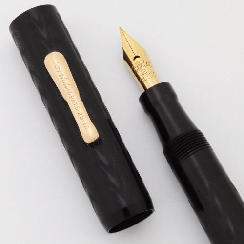 Conklin Crescent Flat Top Fountain Pen  (1920s) - BCHR, Fine Full Flex #2 14k Nib (Excellent, Restored)