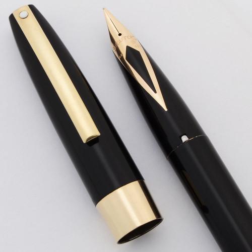 Sheaffer Imperial IV Fountain Pen (1960s, Canada) - Black w/GP Trim, Touchdown, Medium 14k Nib (Excellent, Restored)