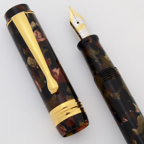 Bexley Sleeve Filler Fountain Pen (2001) - Camouflage, Sleeve Filler, 18k Medium Nib (Excellent in Box, Works Well)