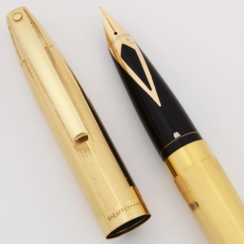 Sheaffer Imperial Triumph Pen (1970s) - Gold Filled,  Touchdown, Fine 14k Nib (Excellent +, Restored)