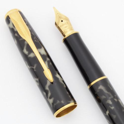 Parker Sonnet Fountain Pen (1993) - Laque Moonbeam,  Flexible 18k Medium Nib (Excellent, Works Well)