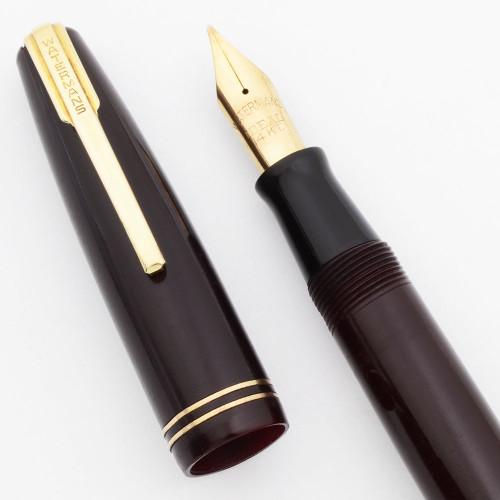 Waterman Commando Fountain Pen (1940s) - Burgundy, Flexible Medium (Excellent, Restored)