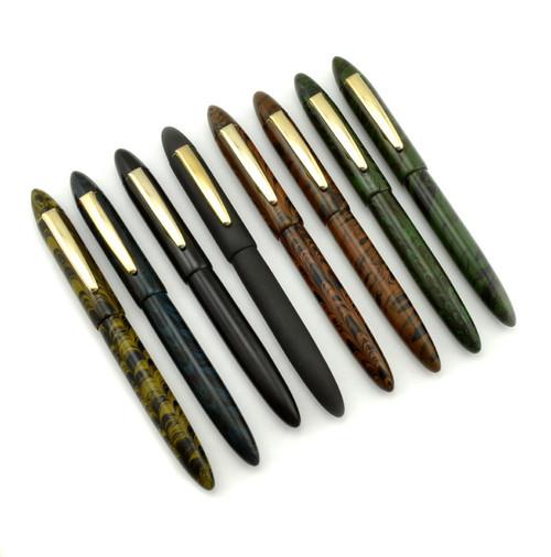 Ranga Ebonite #8 Torpedo Fountain Pen - JoWo Nibs, Cartridge/Converter/Eyedropper