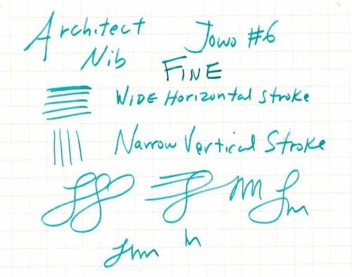 JoWo #6 Gold Tone Steel Fine Nib - Architect Grind