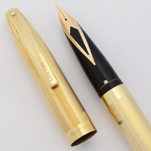 Sheaffer Imperial Lifetime Fountain Pen (Canada, 1963) - Gold Filled, C/C, 14k Fine Lifetime Nib (Excellent, Restored)