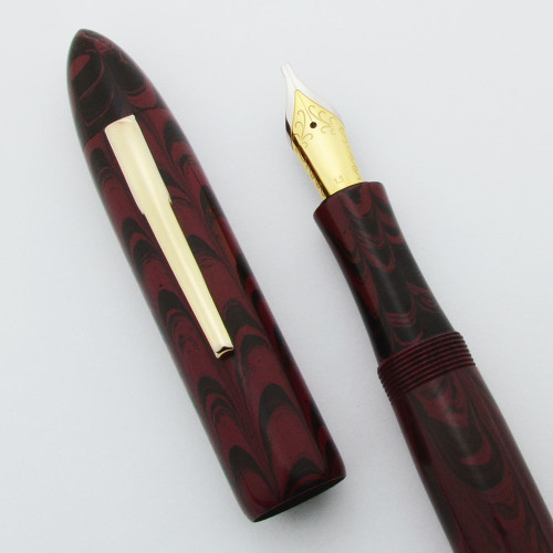 Ranga Ebonite #8B Torpedo Fountain Pen - JoWo Nibs, Cartridge/Converter/Eyedropper