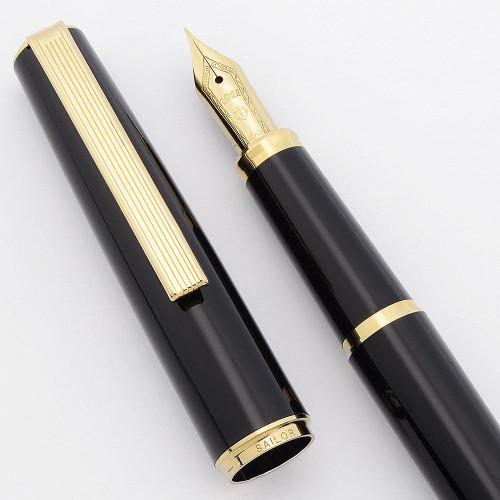 Sailor Somiko aka Young Profit Fountain Pen - Black w GP Trim, EF Nib (Excellent, Works Well)