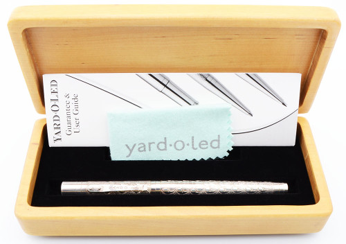Yard-O-Led Viceroy Victorian Rollerball Pen (1990s/2000s) - Sterling Silver (Excellent + in Box, Works Well)