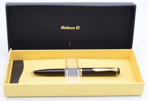 Pelikan K600 Ballpoint Pen  - Black w Gold Trim (Excellent in Box, Works Well)