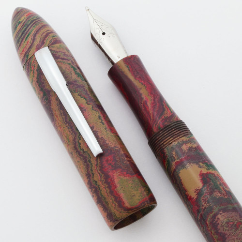 Ranga Premium Ebonite #8B Torpedo Fountain Pen - JoWo Nibs, Cartridge/Converter/Eyedropper