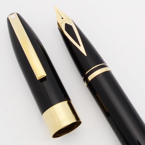 Sheaffer Legacy 2 Fountain Pen (Model 867) - Black Lacque w Gold Trim,  18k Broad Nib,  Touchdown (Near Mint in Box, Works Well)