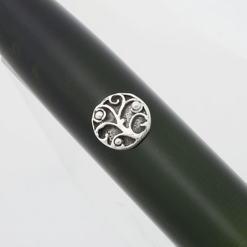 Fine Silver Roll Stops - Various Large  Designs, Installation Required