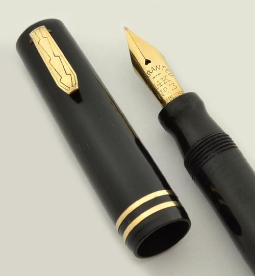 Wahl Eversharp Bantam Fountain Pen -  Black, Lever Filler, #3 Warranted Nib (Excellent, Restored)