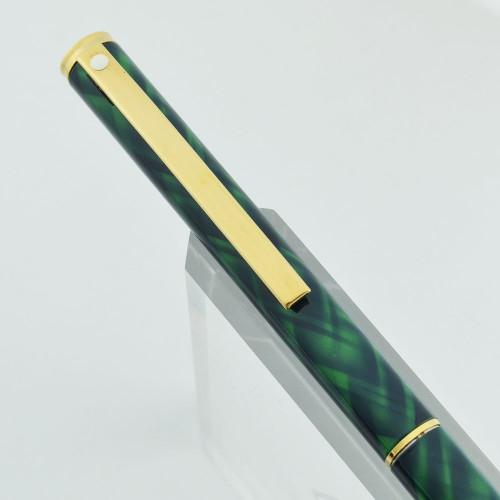 Sheaffer Fashion II Ballpoint Pen - Model 283 Green Tartan (New Old Stock, Perfect)