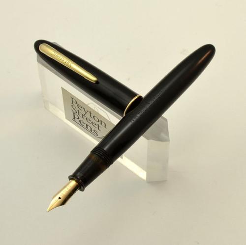 Sheaffer Craftsman - Black, Medium 33 Nib, Lever Filler (Very Nice, Restored)