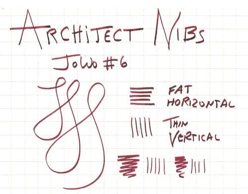 JoWo #6 Polished Steel Broad Nib - Architect Grind