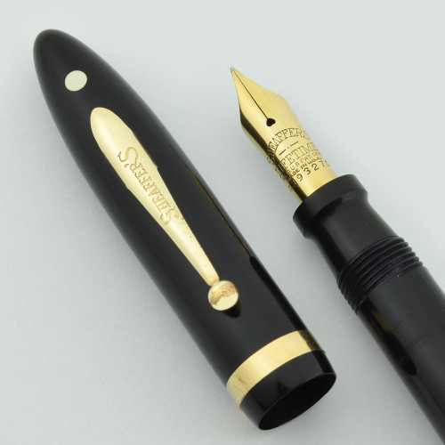 Sheaffer Lifetime Balance Combo Fountain Pen  - Black, Fine Lifetime Nib (Excellent, Restored)