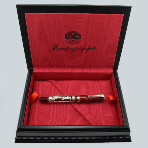 "Montegrappa ""Rooster"" Oriental Zodiac Collection Fountain Pen  - Sterling with Resin, 18k EF Nib (Near Mint in Box, Works Well)"