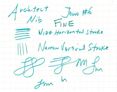 JoWo #6 Polished Steel Fine Nib - Architect Grind