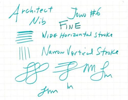 JoWo #6 Polished Steel Fine Nib - Architect Grind