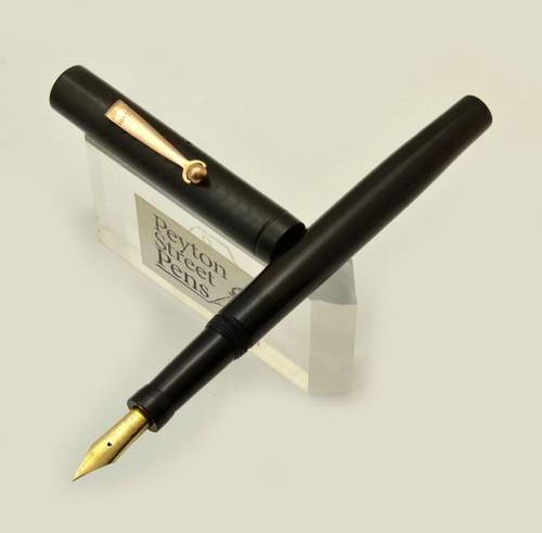 Moore L-92 Fountain Pen - 1920s, BCHR, 14k Flexible Fine Nib (Superior, Restored)