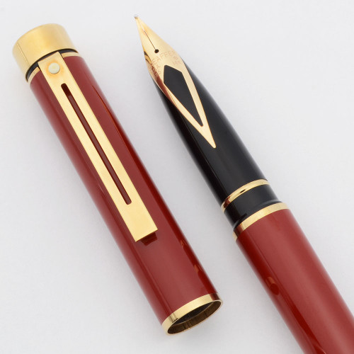 Sheaffer TARGA 1021 Fountain Pen - Laque Imperial Red, 14k Nib (New Old Stock)