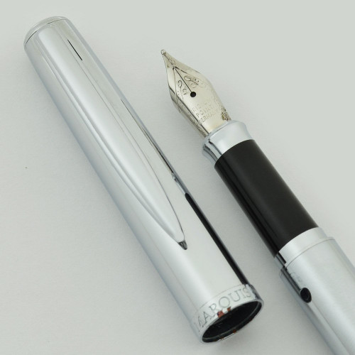 Waterford Marquis Claria Fountain Pen - Rhodium Plated, Fine Nib (Very Nice in Box, Works Well)
