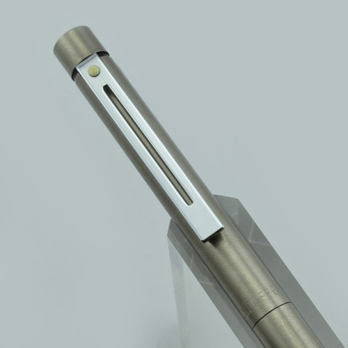 Sheaffer Targa 1001 Mechanical Pencil - Brushed Stainless Steel, CP Trim, 0.9mm (New Old Stock)