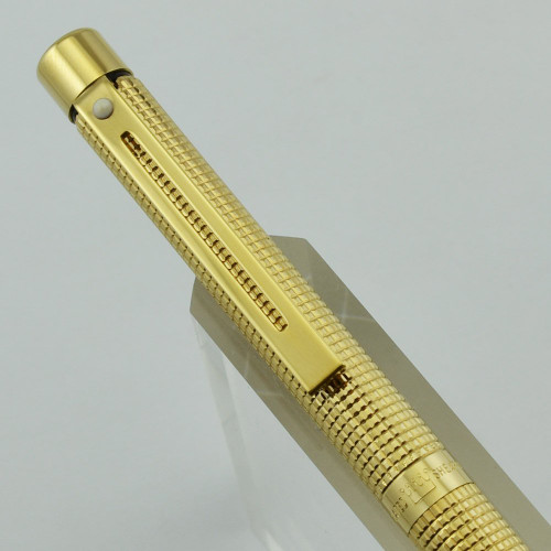 Sheaffer Targa 1011 Mechanical Pencil - Gold Plated, Diamond Squares, GP Trim, 0.9mm (New Old Stock)