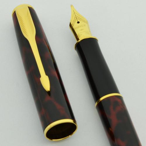 Parker Sonnet Fountain Pen (1997) - Laque Firedance, 23k GP Trim, 18k Medium Nib (Near Mint, Works well)