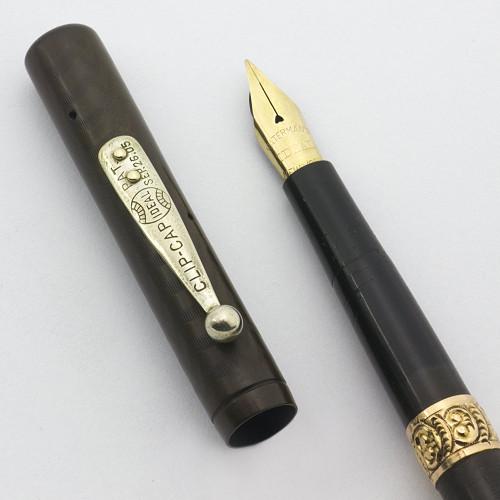 Waterman 14 Fountain Pen - BCHR, Eyedropper, Flexible Fine New York Nib (Very Nice, Works Well)