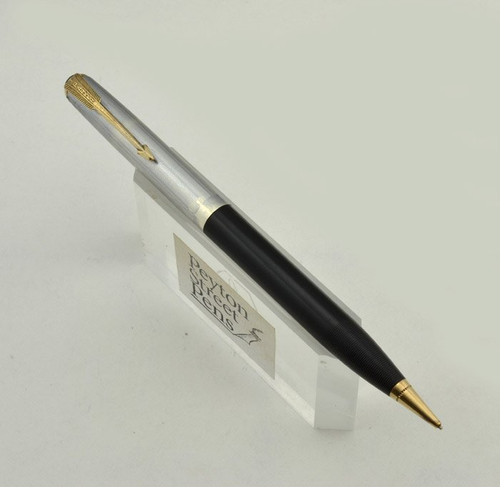 Parker 51 Mechanical Pencil - Full Size,  Black, Coin Silver Cap (Very Nice, Works Well)