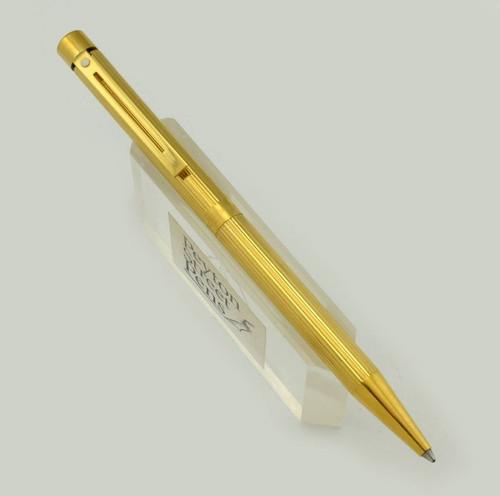 Sheaffer Targa 1005 Ballpoint Pen - Gold Fluted (Excellent)
