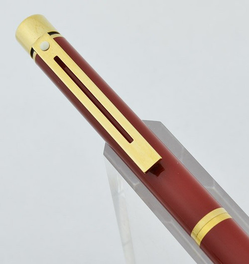 Sheaffer Targa 1021 Ballpoint Pen - Laque Imperial Red (New Old Stock)