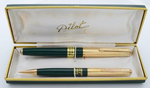 Pilot RMW300 Super 300 Pen Set - 1950s New Old Stock, 14k Nib (Mint in Box, Restored)