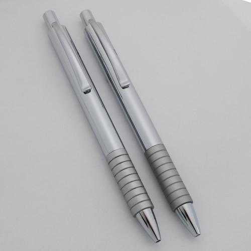 Faber-Castell Essentio Pen Set - Shiny Metal, BP, MP  (Near Mint, Work Well)