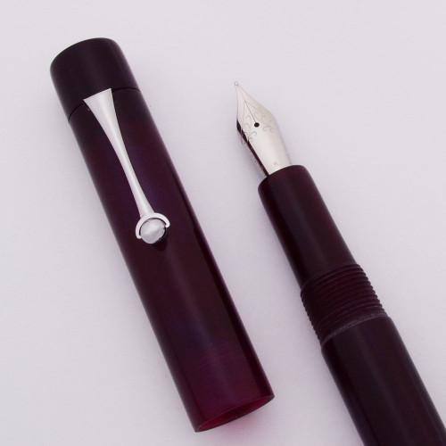 PSPW Prototype Fountain Pen - Purple w Iridescence, Clip Model, JoWo #6 Nibs