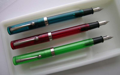 Sheaffer No Nonsense Fountain Pens - Original Version, Various Clear Models (New Old Stock) - 17005