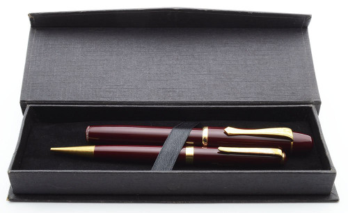 Tropen 100 Fountain Pen Set - Burgundy, GP Medium Nib (Excellent + in Box, Works Well)