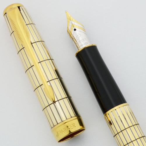Parker Sonnet Fountain Pen (2005) - Crocodile Vermeil Special Edition, 18k Medium Nib (Excellent, Works well)