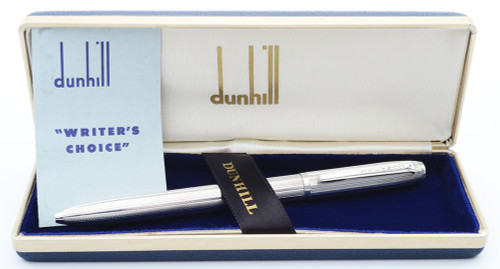 Dunhill  Writer's Choice Multipen (1970s) - Sterling Barleycorn, 3 BP Colors, MP (Superior in Box, Works Well)