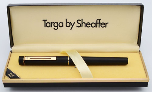 Sheaffer TARGA 1003 Fountain Pen - Matte Black, Gold Trim, Early Version, Various 14k Nibs (New Old Stock)