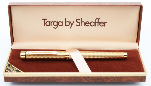 Sheaffer TARGA 1011 Fountain Pen - Gold Diamond Squares, Various 14k Nibs (New Old Stock in Box)
