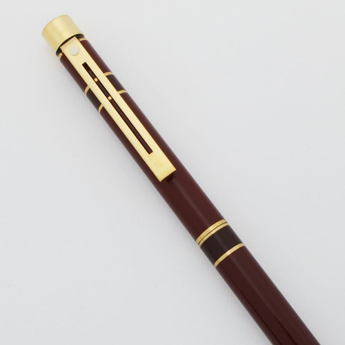 Targa 1043 Ballpoint - Laque Prestige Burgundy with Wide Bands  (Excellent, Works Well)
